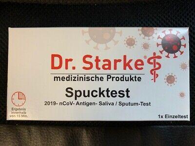 10 Stück Dr.Starke Covid 19 Spucktest Corona Schnelltest Speicheltest einzeln