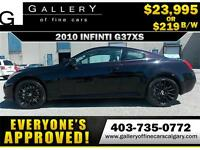 2010 Infiniti G37xS COUPE AWD $219 bi-weekly APPLY NOW DRIVE NOW