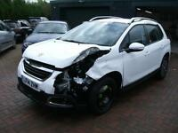 2014 Peugeot 2008 ACTIVE 1.2 SEMI AUTOMATIC SALVAGE DAMAGED REPAIRABLE DRIVES