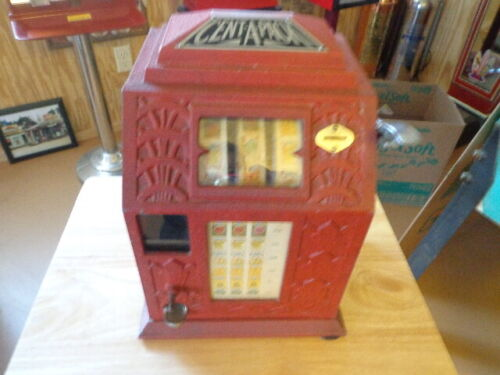 Vintage 1935 Buckley CENT A PACK  GUM BALL Trade Simulator Working With KEY