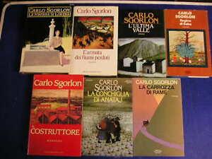 Lotto-Blocco-stock-7-libri-romanzi-tutti-di-CARLO-SGORLON
