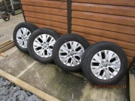 16' T5 alloy wheels and tyres (off a 65 plate van).