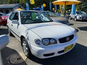 2001 Toyota Corolla ZZE122R Ascent White 4 Speed Automatic Sedan Morayfield Caboolture Area Preview