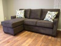 Sofa with Floating Ottoman - only $988!