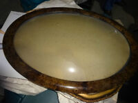 "ANTIQUE  OVAL FRAME, 1800s? 22"" diameter? rare find"
