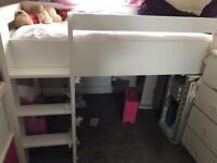 Next mid sleeper single bed with desk.