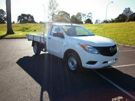 2013 Mazda BT-50 B22P XT 4x2 Cool White 6 Speed Manual Cab Chassis South Lismore Lismore Area Preview