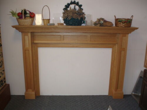 Custom Made Oak Fireplace Mantle/Surround