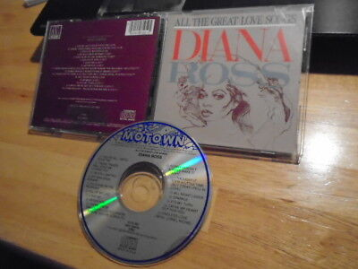 RARE OOP Diana Ross CD All th Great Love Songs Motown ENDLESS LOVE Lionel
