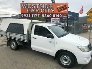 2010 Toyota Hilux KUN16R 09 Upgrade SR White 5 Speed Manual Cab Chassis Hoppers Crossing Wyndham Area Preview