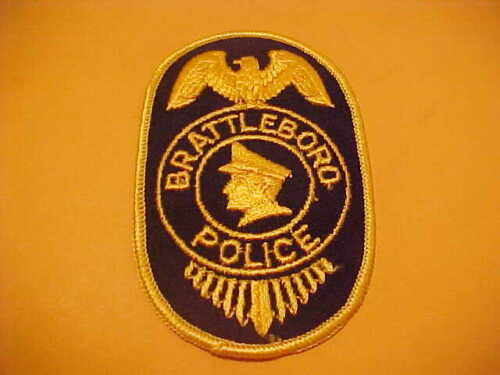 BRATTLEBORO VERMONT POLICE PATCH SHOULDER SIZE UNUSED