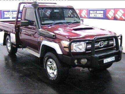 2012 Toyota Landcruiser VDJ79R MY12 Update Burgundy 5 Speed Manual Cab Chassis Cardiff Lake Macquarie Area Preview