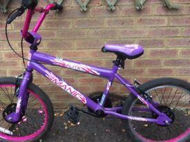 Girls 20 inch wheel bike age 8-11 years