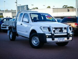 2014 Nissan Navara D40 S8 RX King Cab White 5 Speed Automatic Cab Chassis Wangara Wanneroo Area Preview