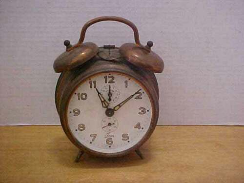 Vintage Adolf Jerger Orbros Clock with Alarm made in Germany Free Ship