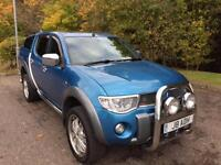 2007 07 MITSUBISHI L200 2.5 DI-D DIAMOND 4WD NO VAT 4DR PICK UP AUTO 168 BHP DIE