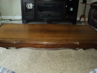 3 piece coffee tables solidl walnut over 50 years old