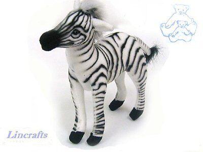 Mini Zebra Plush soft toy by Hansa. Sold by Lincrafts. 3743
