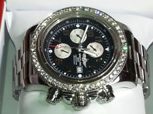 BREITLING  48MM, CHRONOGRAPHE, 48 DIAMONDS,  7000$__OR EXCHANG