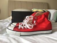 Converse All Star Hi Mens size 8 Red - New (not been worn)