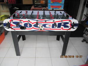 """Classic SuperSoccer """"Fooseball"""" Game TableLike New Ready To Play"""
