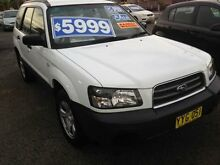 2003 Subaru Forester MY04 X White 5 Speed Manual Wagon Broadmeadow Newcastle Area Preview
