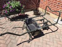 Fishing barrow excellent condition ajustable and large gear bag at front