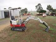 TAKEUCHI EXCAVATOR TB108 3 BUCKETS, HYD EXTENDABLE DIPPER ARM Balliang East Moorabool Area Preview