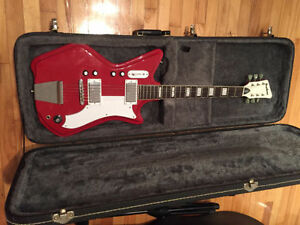 Guitare Eastwood Airline rouge avec case rigide