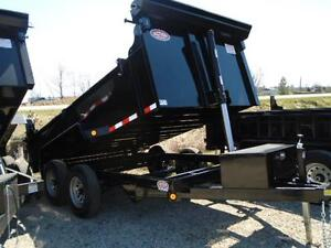 Telescopic 3 stage dump trailers in stock - 6 x 12 - 5 ton -SAVE London Ontario image 6