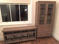 Glass Door Cabinet and matching console table (Sold together or separately)