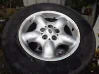 Land rover freelander set of alloy wheels and good tyres