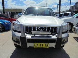 2007 Toyota Landcruiser Prado KDJ120R Grande Pearl White 5 Speed Automatic Wagon Holroyd Parramatta Area Preview