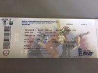 2 Tickets for England Vs Windies - Ageas Bowl - 29th September