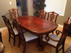 solid wood, handcrafted dining table set Kitchener / Waterloo Kitchener Area image 2
