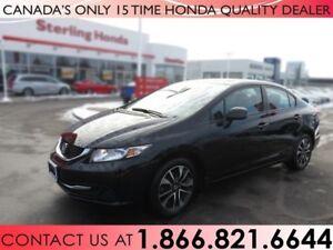 2013 Honda Civic EX | 1 OWNER | NO ACCIDENTS | SUNROOF