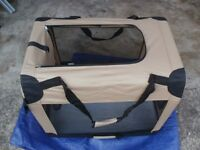 large pet travel carrier or bed