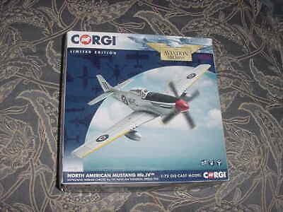 "Corgi Diecast Aircraft Model ""No.American Mustang Mk.IV"", 1945  1:72 Scale MIB"