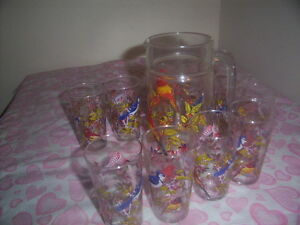 vintage jug and glasses set. Kingston Kingston Area image 2