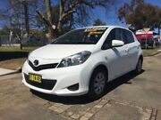 2012 Toyota Yaris NCP130R YR White 4 Speed Automatic Hatchback Hillvue Tamworth City Preview