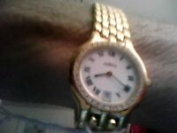 Ladies movado museum 18kt yellow gold plated fine watch