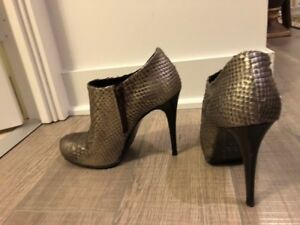 Booties / Shoes Mimosa Silver Heels size 7