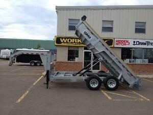 "New 2015 Cam Advantage 6'8"" x 14' HD Gooseneck Dump Trailer"