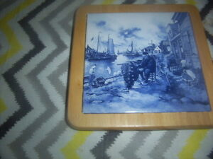 hotplate from holland.plate collectible.mug Mcintosh.