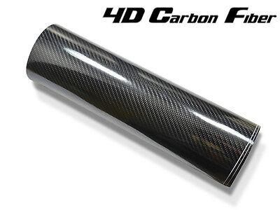 5D Carbon Folie (4D struktur) 152 cm x 10 Meter hochglänzend mit Luftkanäle