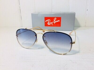 RAY-BAN RB3584N 001/19 BLAZE AVIATOR Gold w/Light Blue Gradient Lens Suns (Ray Ban Aviator Color Lenses)