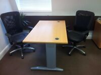 Office Desk and 2 chairs