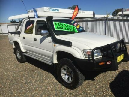 2004 Toyota Hilux VZN167R SR5 (4x4) White 5 Speed Manual Dual Cab Pick-up
