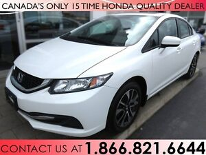 2015 Honda Civic EX | ALL WEATHER MATS | 1 OWNER | NO ACCIDENTS