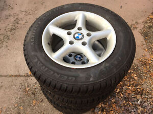 Set of 4 Studded Tires with Rims